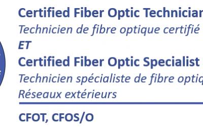 (CFOT et CFOS/O Combinée) Technicien de fibre optique certifié et certifié spécialiste réseaux extérieurs – Apprentissage mixte (blended e-learning)