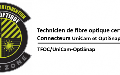 (TFOC) Introduction à la fibre optique, pose de connecteurs UniCam et essais par insertion